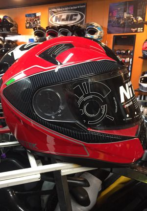 New red and black dot fiberglass motorcycle helmet $120 for Sale in Norwalk, CA