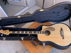 "Fender ""Kingman"" Acoustic/Electric Bass w/ Thomastic Strings for Sale in Las Vegas, NV"