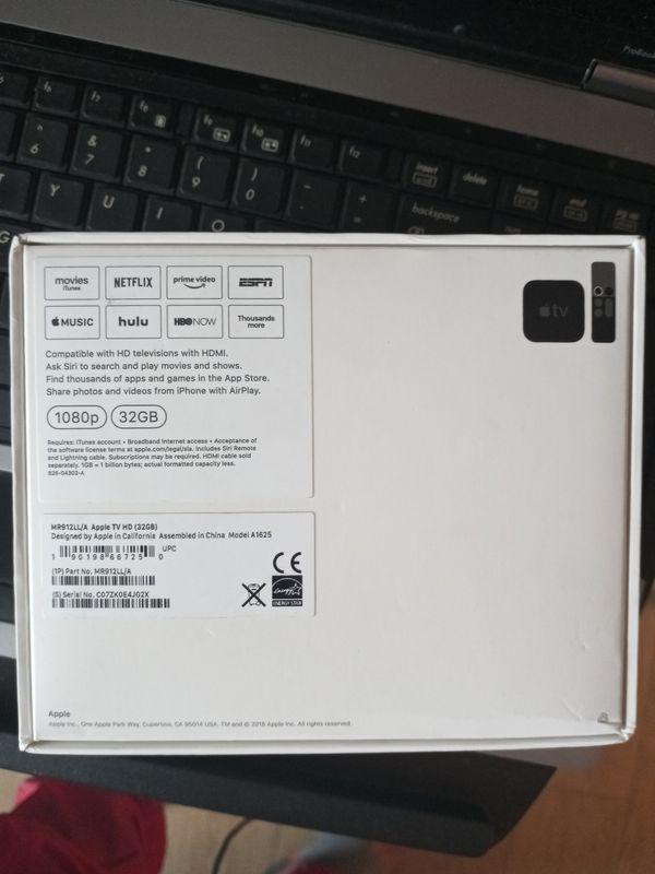 """Brand New Apple TV HD 32 Gig,.."""
