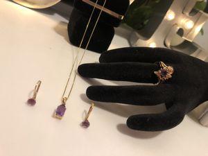14k diamond amethyst set for Sale in Anaheim, CA