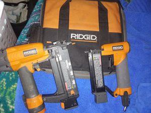 2 Ridgid finish nail guns for Sale in San Bernardino, CA