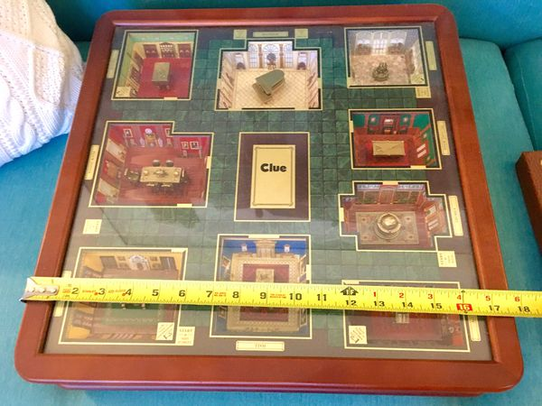 Clue luxury edition 3D room furniture board game Cluedo