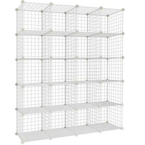 White wire grid cube organizer. 4x5 cube for Sale in Central Falls, RI
