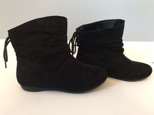 Faded Glory, Black Ankle Boots (girls size 1) for Sale in York, SC