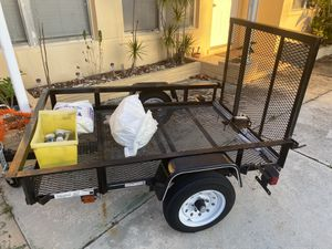 4x6 Utility Mesh Trailer- Barely Used for Sale in Palm Springs, FL