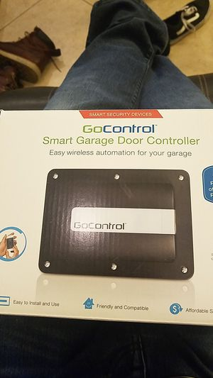 GoControl/Linear GD00Z-4 Z-Wave Garage Door Opener Remote Controller, Small, Black for Sale in Corona, CA