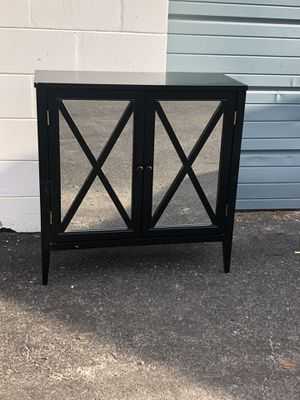 Black mirrored cabinet/storage/shelving unit for Sale in Madeira Beach, FL