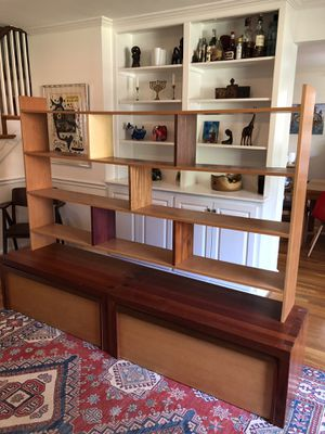 Beautiful Brazilian hardwood bookshelves and storage unit for Sale in Bethesda, MD