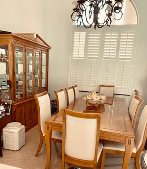 Dining Room Table and China Cabinet Wood for Sale in Coconut Creek, FL