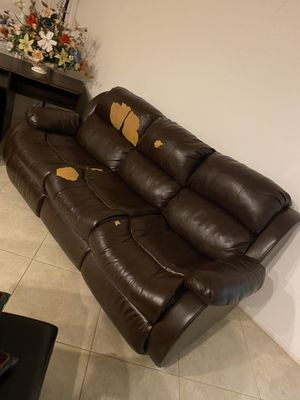 Brown leather couch for Sale in San Diego, CA