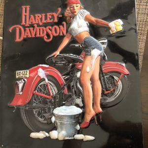 Harley Davidson Metal Plaque - Wash Babe for Sale in Glendale, AZ
