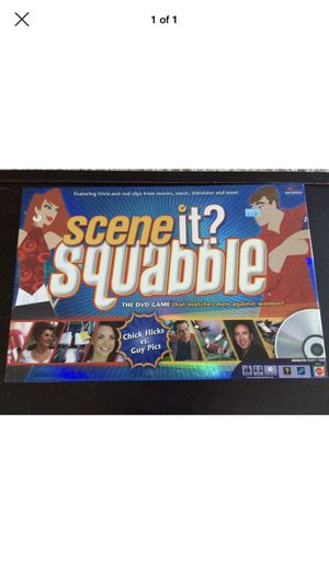 Scene It? Squabble DVD Board Game Men Against Women Girl Flicks vs Guy Pics NEW for Sale in Portland, OR