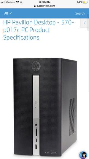 Used HP Pavilion Desktop - 570-p017c for Sale in Surprise, AZ