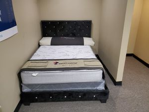 Zero down financing available. Queen-size Makayla bed with mattress and box spring. Free delivery for Sale in Grand Prairie, TX