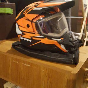 Snowmobile Helmet Adult Medium With Heated Visor for Sale in Bonney Lake, WA