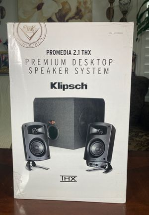Klipsch promedia 2.1 THX premium desktop speaker system for Sale in Los Angeles, CA