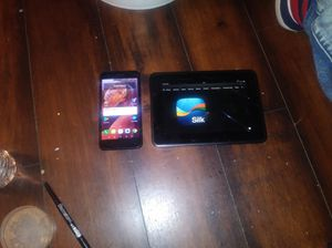 Cracked LG Aristo 2 and a Kindle Fire 7 also cracked trade for new uncracked Aristo 2 for Sale in Los Angeles, CA