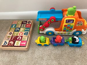 Vtech truck and blocks for Sale in North Potomac, MD