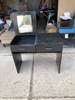 Small black desk/ vanity for Sale in Westminster, CO