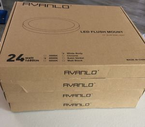 AVANLO Ceiling Light Flush Mount, 11.8 Inch 24W for Sale in Chino Hills, CA