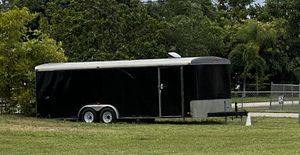 8 x 24 Enclosed landscape trailer with rear ramp for Sale in Hollywood, FL