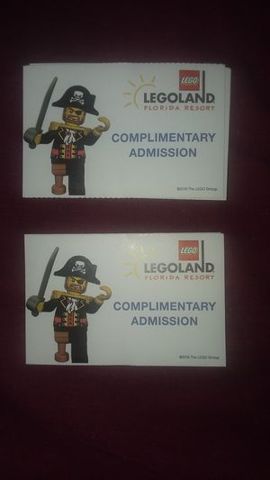Legoland tickets for Sale in Lakeland, FL