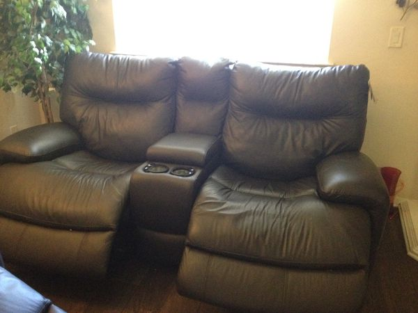 Flexsteel Leather Power Reclining Sofa/Loveseat for Sale in Citrus ...