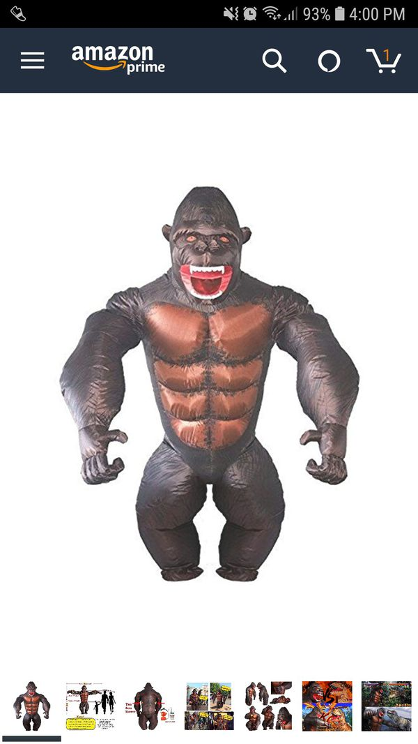Adult Inflatable Gorilla Halloween Costume
