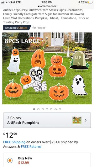 Halloween yard stakes signs for Sale in Woodlake, CA