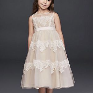 BANDED LACE ILLUSION FLOWER GIRL DRESS for Sale in Upland, CA