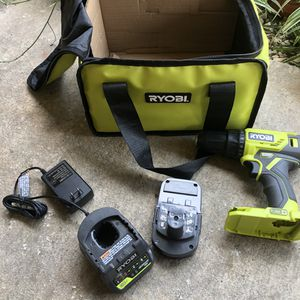 RYOBI 18-Volt ONE+ Lithium-Ion Cordless 1/2 in. Drill/Driver Kit with (1) 1.5 Ah Battery and 18-Volt Charger for Sale in Houston, TX
