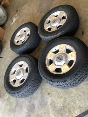"""Ford F-150 6 lug 17"""" wheels and tires. 80%. Tires for Sale in Princeton, TX"""