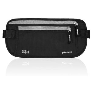 My-Jaxo Premium Family Waterproof RFID Slim Fanny Pack Money Running Belt for Travel Women and Men Waist Bag Pouch - Travel belt for Money and Passpo for Sale in Ontario, CA