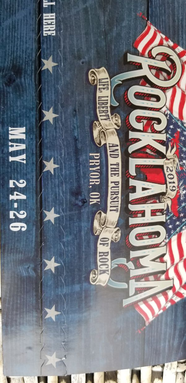 Pair of 3 day wristbands for 2019 Rocklahoma