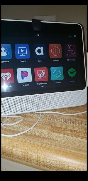 Facebook portal smart hands free video calling Alexa built in works great nothing wrong with it must pick up for Sale in Phoenix, AZ