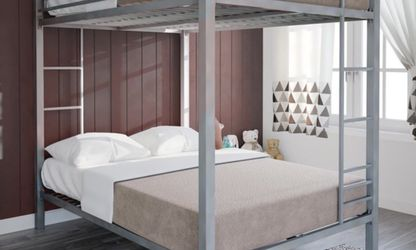 DHP Full over Full Metal Bunk Bed, Silver for Sale in Las Vegas,  NV