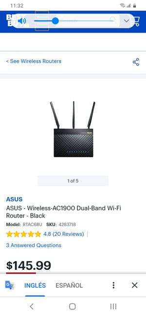 Asus wireless router for Sale in North Las Vegas, NV