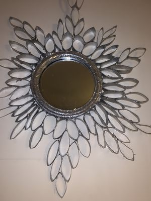 Silver wall mirror handmade for Sale in North Charleston, SC