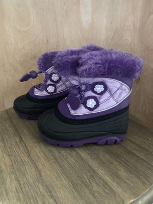 KAMIK snow boot purple toddler girl size 5 for Sale in San Bernardino, CA