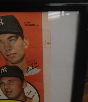 New York Yankees team poster 1969 with (Mickey Mantel )no. 19 $200.00 OBO for Sale in Fortuna, CA