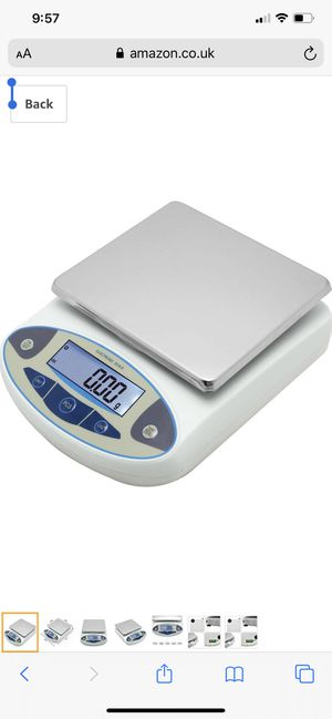 CGOLDENWALL Lab Digital Scales 0.01g Precision Analytical Electronic Balance Jewelry Scales Kitchen Weighing Scale Calibrated & Ready to Read (5000g, for Sale in Leawood, KS