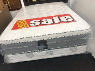 Queen pillow top mattress with boxspring for Sale in Moreno Valley,  CA