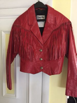 Pioneer Wear leather fringe jacket for Sale in Ansonia, CT