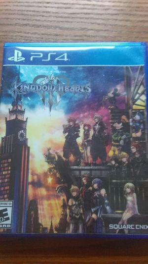 Kingdom hearts 3 PS4 video game for Sale in Auburn, WA