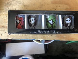 the nightmare before Christmas shot glasses for Sale in Orange, CA