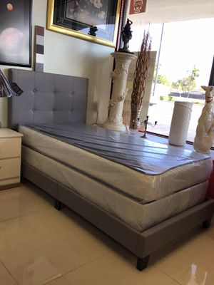 Twin size bed frame with mattress brand new $$$$249 for Sale in Fort Lauderdale, FL