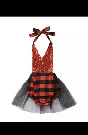 Sequin Backless Plaid Tulle Romper for Sale in Concord, NC