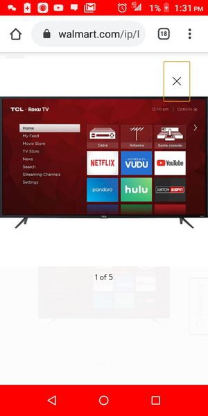 "65 "" Tcl Roku tv for Sale in East Chicago, IN"