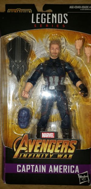 Marvel Legends Avengers Infinity War Captain America Thanos Baf for Sale in Chicago, IL