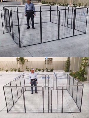 New in box 48 inch tall x 32 inches wide each panel x 16 panels exercise playpen fence safety gate dog cage crate kennel perrera cerca for Sale in West Covina, CA